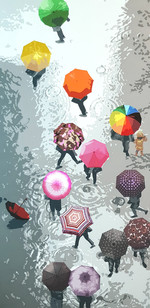 1_Flowers in the rain_Acrylic on canvas_