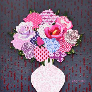 13_Blossom_Mixed media on canvas_30x30_4