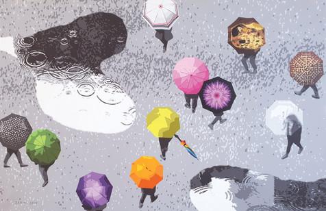 7_Flowers in the rain_Acrylic on canvas_