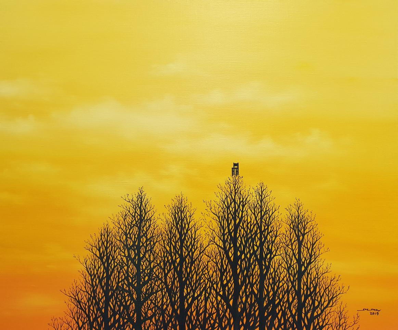 나무의자_ 72.7x60.6_ oil on canvas_ 2019_200