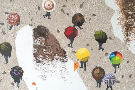 5_Flowers in the rain_Acrylic on canvas_