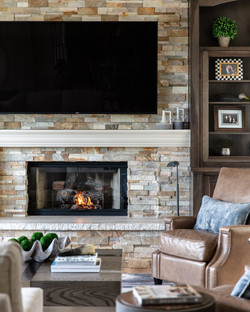 Family Room cabinets and fireplace
