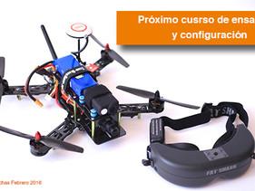 Próximo curso de ensamble de Drones