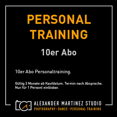 Personal-Training 10er Abo