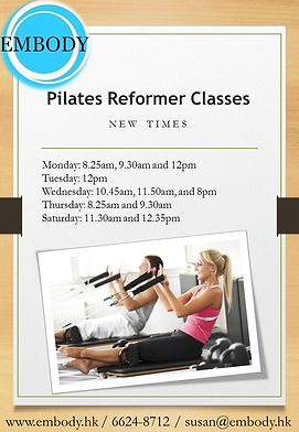 EMBODY FLYERS - Pilates classes new  tim