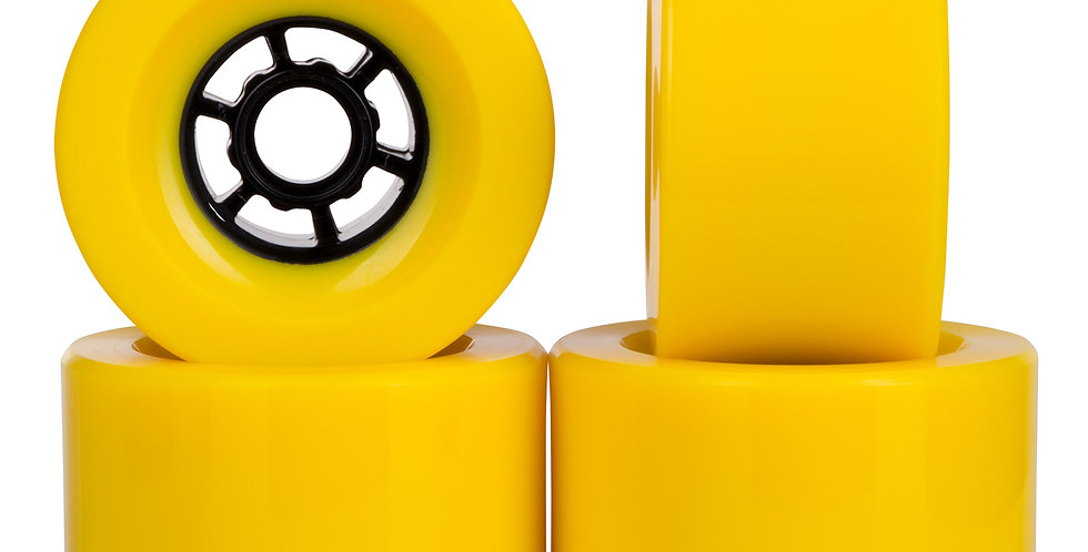 Yellow 97mm 78A wheels