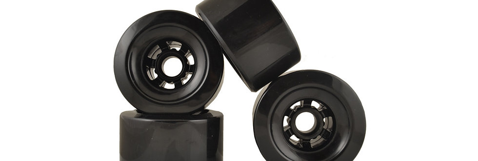 Black 90mm 78A wheels (set of 4)