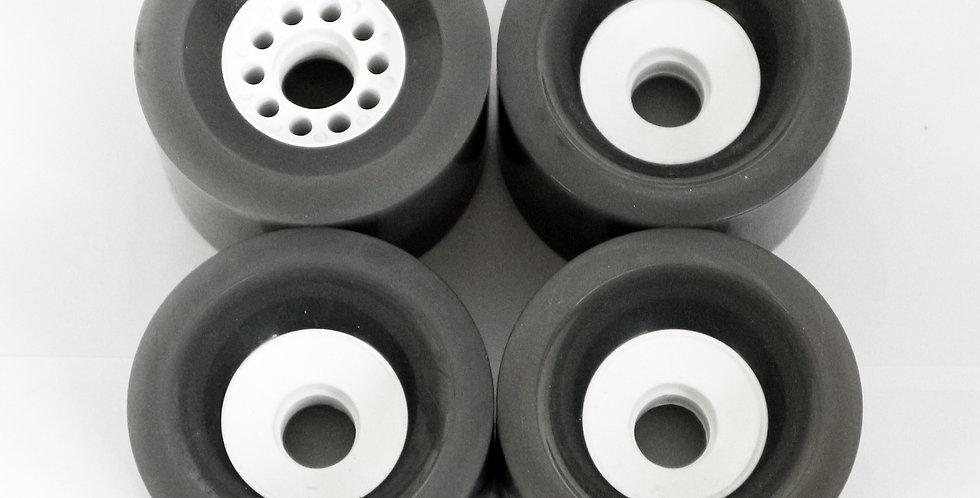 (set of 4) 90mm Grey Kegel style wheels