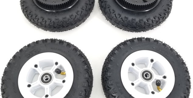 8 Inch AT wheels (Set of 4 with 72T pulley))