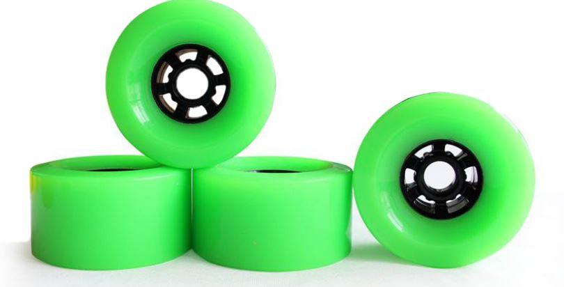 Green 97mm 78A wheels (set of 4)