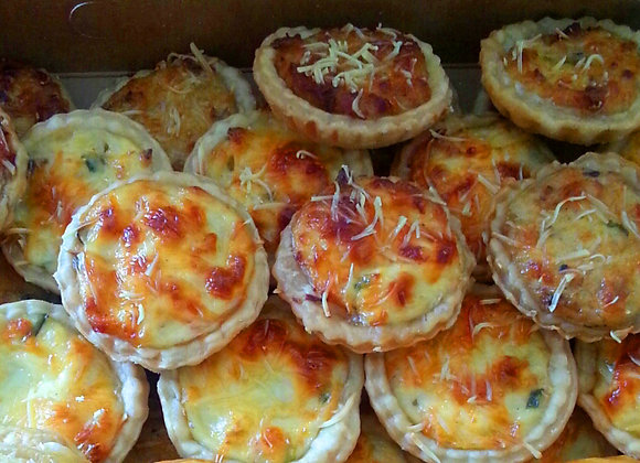 15 Mini Quiches au jambon