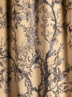 Golden Oriole Velvet Fabric