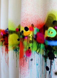 Graffiti Horizon Velvet Fabric