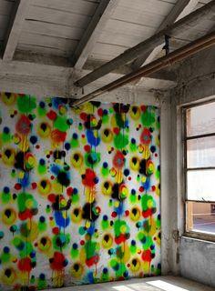 Graffiti Allover Velvet Fabric