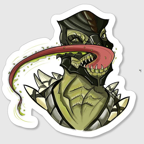 Mortal Kombat Reptile Sticker