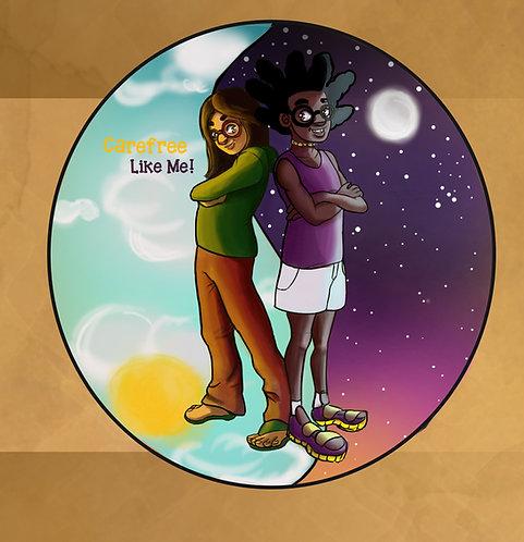 Amir and Neena in Balance Art Print