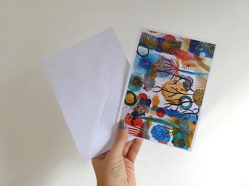 "Aquatic Wonders - 7x5"" Folded Card"