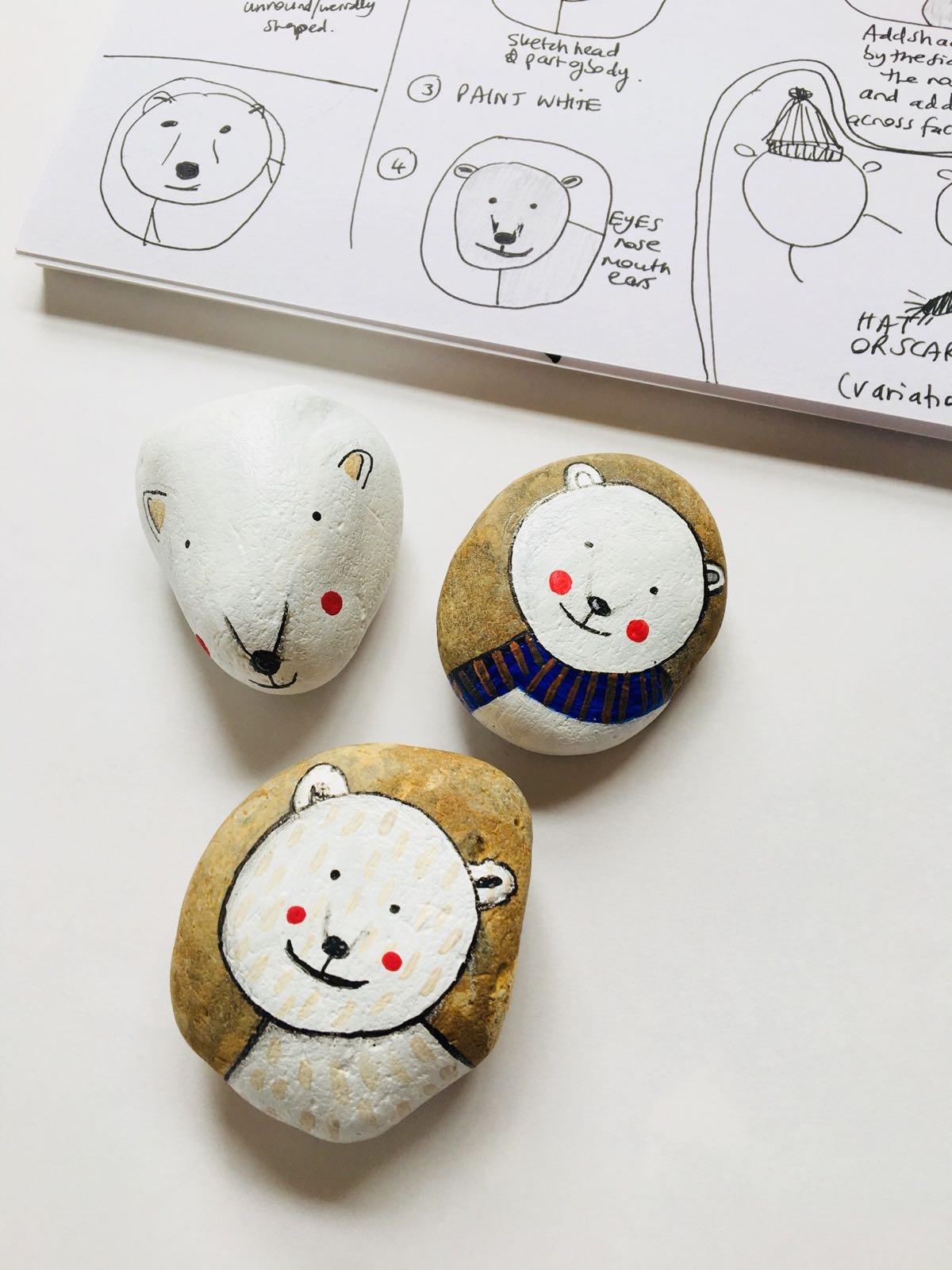 Polar Bear pebbles