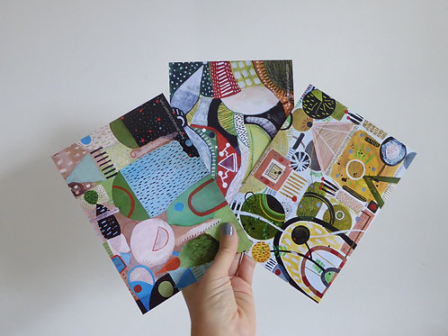 "Set of 3 postcards (7x5"")"