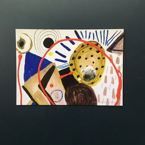 """Abstract shapes postcard (7x5"""")"""
