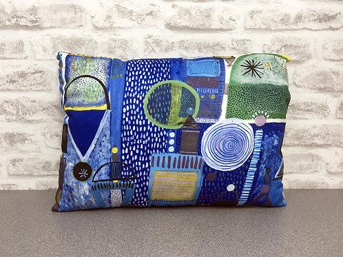 Handmade cushion - Winter Blues