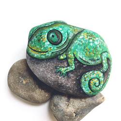 Chameleon rock art