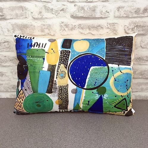 Handmade Cushion - Aboriginal Dance