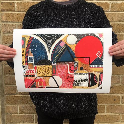CITY NIGHTLIGHTS - Giclee Print (A3)