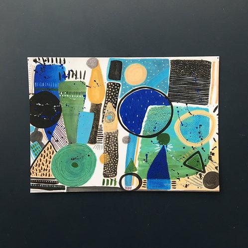 """Aquatic Landscape postcard (7x5"""")"""