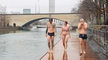 Schwimmen in der Limmat - im Winter erst recht!