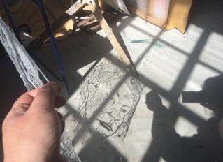 Drawing with a Glue gun, Selfies, Emojis