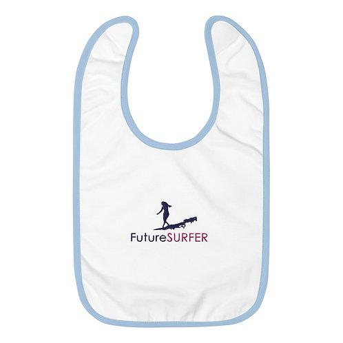 SN Future Surfer Embroidered Baby Bib