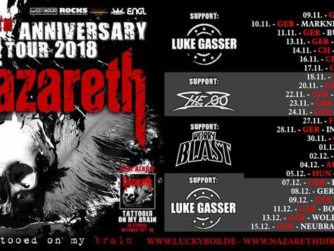 Worry Blast en tournée avec Nazareth