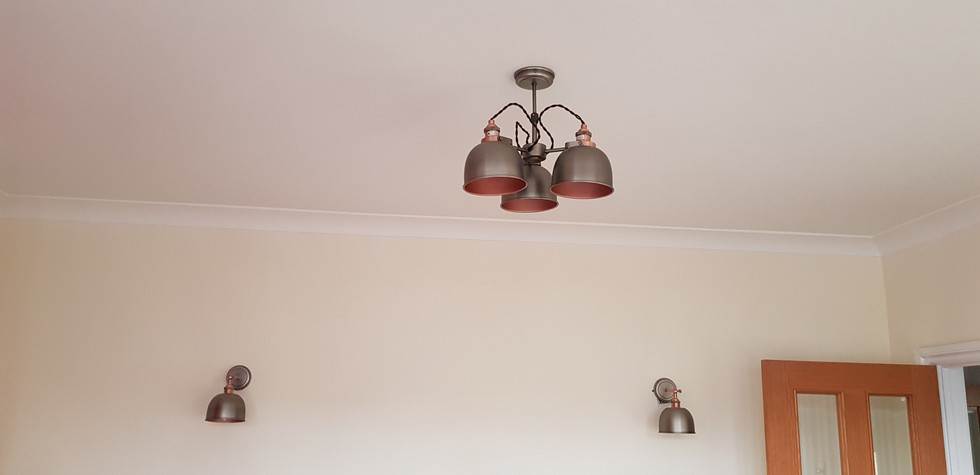 Wall and ceiling light fitting istallation