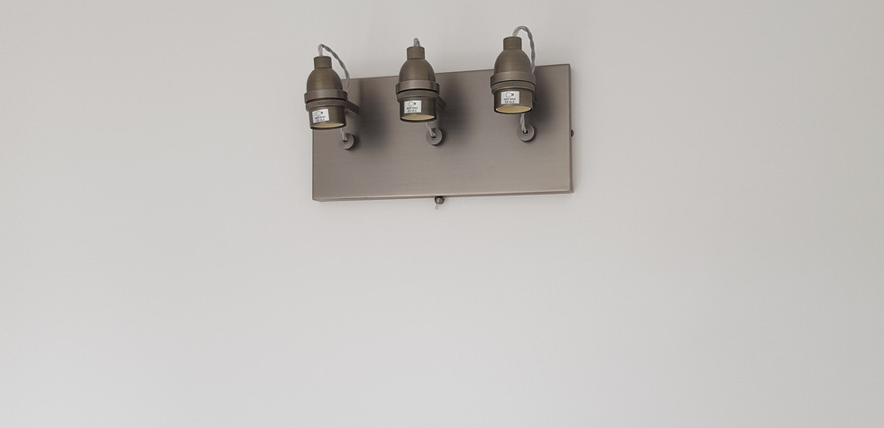 Wall light fitting installed