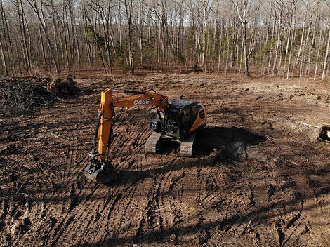 Land clearing with a Case CX130D
