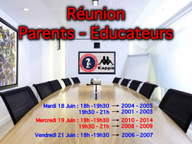Réunion Parents - Educateurs