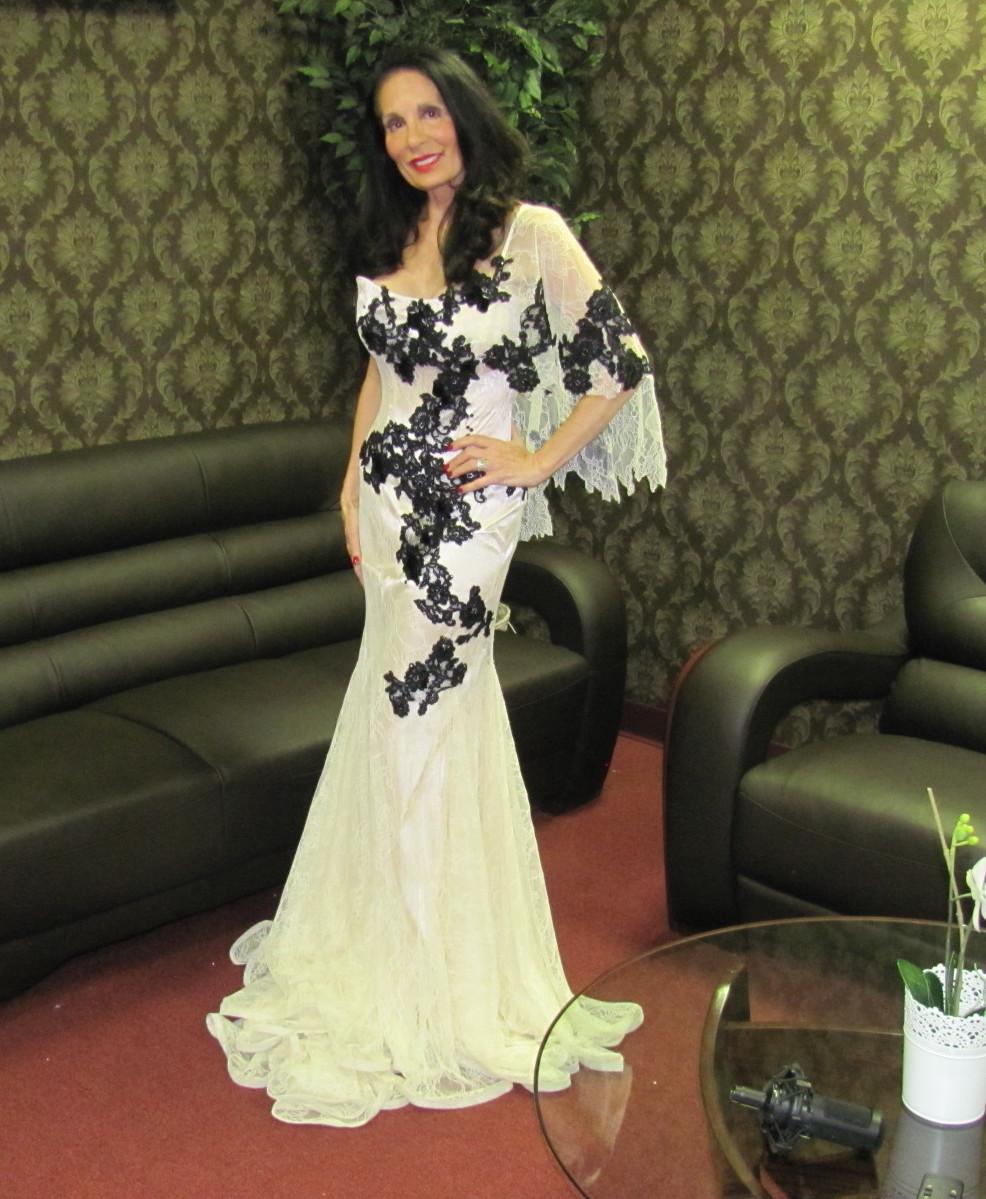 Fashion Show Gail White Gown Side
