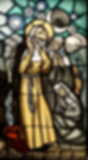 sainte claire vitrail