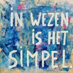 in wezen is het simpel ...