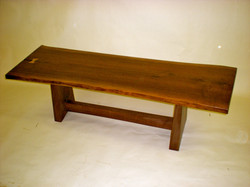 walnut slab coffee table