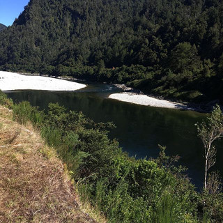 This is where I was hanging out during the race yesterday! So beautiful!! #bullermarathon #bullermarathon2018 #bullergorge #westportnz #west