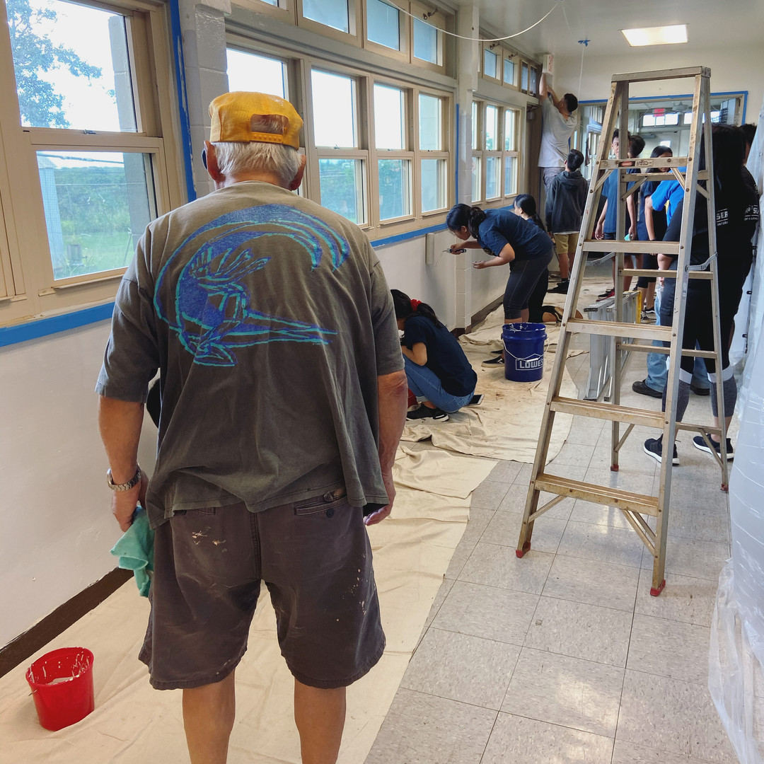 2020 Paint project at Waipahu Aloha Clubhouse