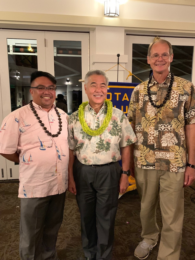 Rodgie, Mark and Governor Ige