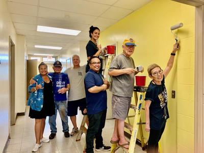 2020 Paint project at Waipahu Aloha Clubhouse