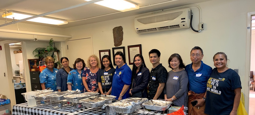 The first annual Thanksgiving dinner for clients of Pacific Gateway Center in Kalihi.
