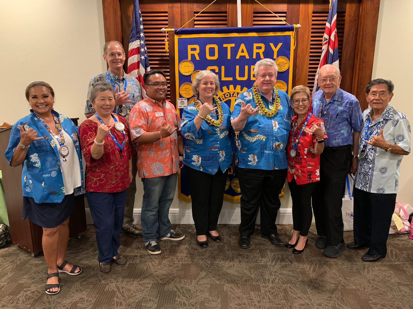 Club visit from 2019 Rotary Int'l Pres Mark Maloney and wife Gay Maloney