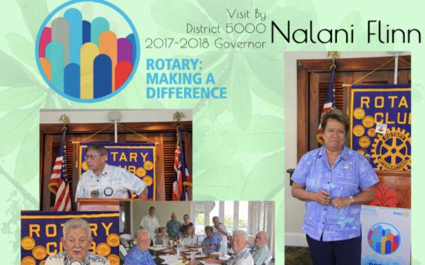 District 5000 Governor Nalani Flinn Visits West Pearl Harbor Rotary