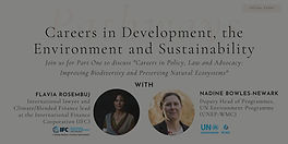 Careers in Policy, Law and Advocacy: Improving Biodiversity & Preserving Natural Ecosystems
