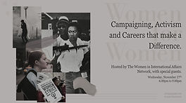 Women for Women: Campaigning, Activism and Careers that make a Difference
